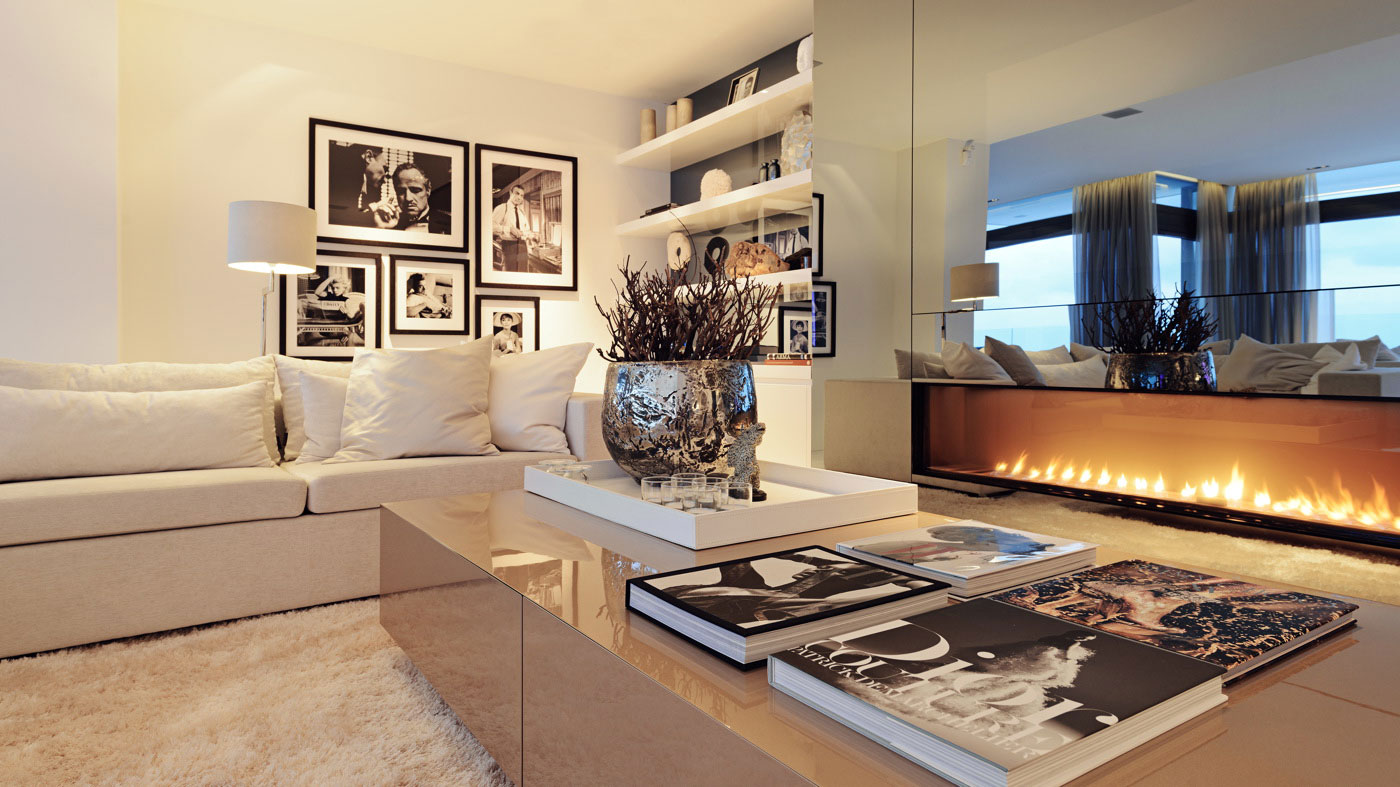 luxury-living-room-interior-decoration-with-white-couch-and-beige-gloss-coffee-table-also-modern-fire-place-design-ideas